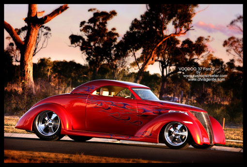 37 Ford Hot Rod with Chevy Engine
