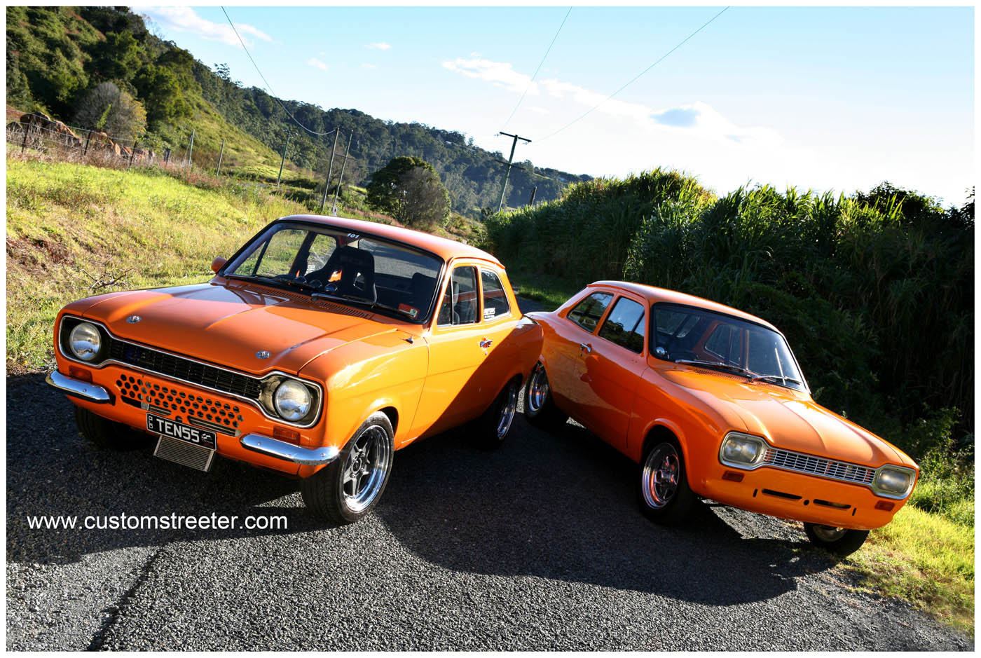 Old School British fun performance mixed with high tech Japanese Nissan turbo engine for the street plus a purpose built Pinto powered drag car. Ford Mk1 Escort, Escorts seen in Fast 6 and Wheeler Dealer
