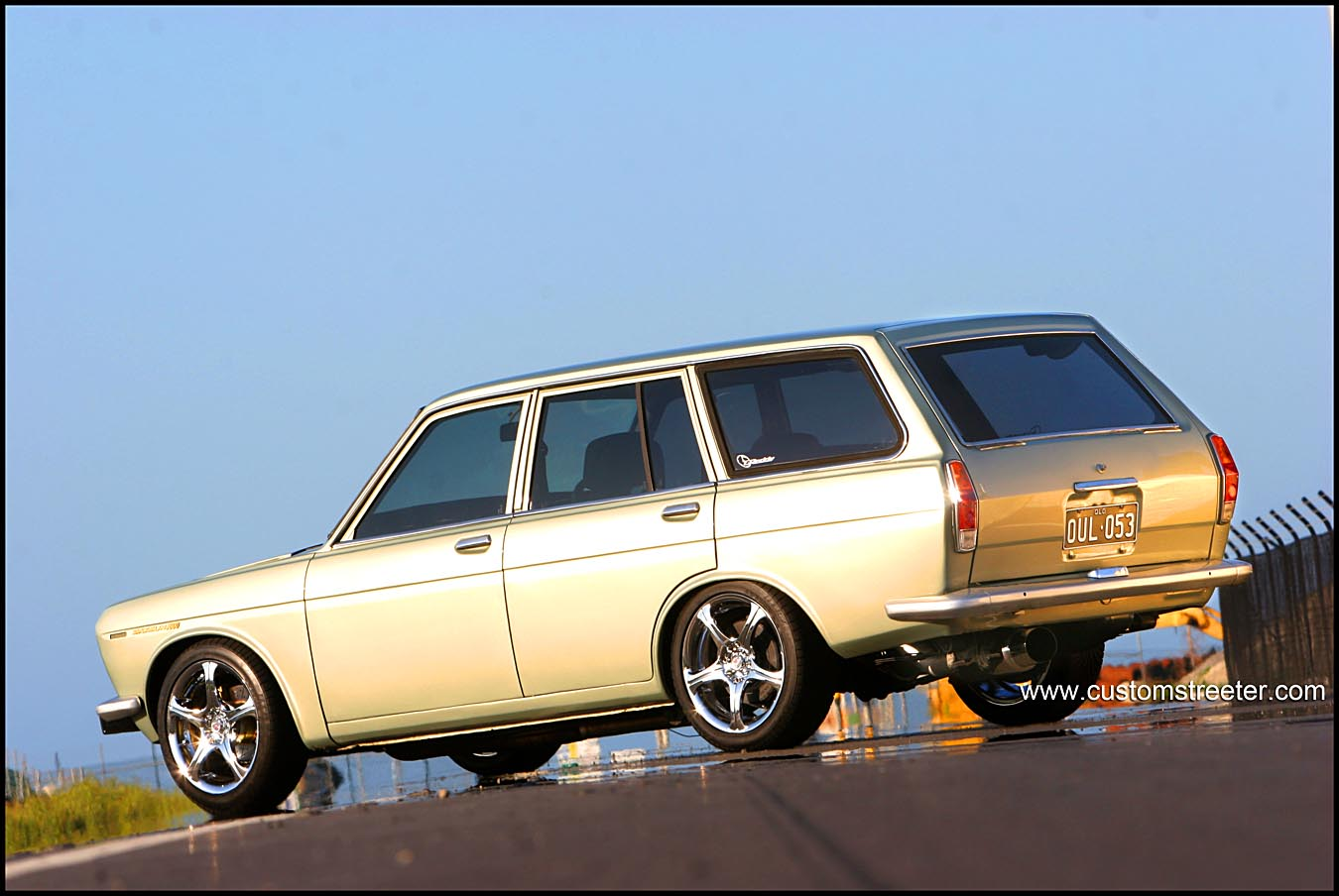 Datsun 1600 Wagon, Turbo powered Japanese vintage automobile. Big Performance from Nissan's SR20DET