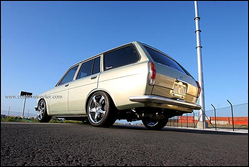 Datsun 1600 510 wagon, turbo powered with Nissan Sr20det engine. Complete vintage JDM Japanese performance vehicle.
