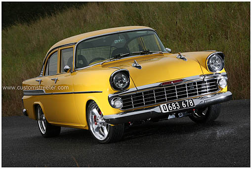 Holden Australia built FB Holden Sedan, a mini Chevy. Originally powered by a 75 horsepower 132 cubic inch Holden Grey engine, Malcoms' FB engine has been upgraded to a buick 3.8 litre supercharged unit also seen in Australian Commodores.