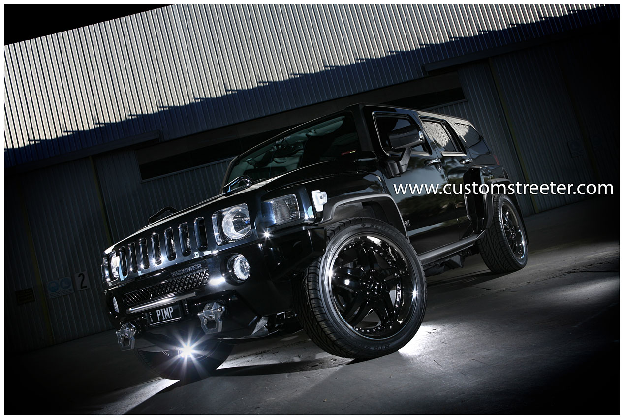 The Woofpac - Supercharged H3 Hummer, smaller than a H2 and not quite military spec this H3 Hummer is an Urban Guerilla. Surprising sports cars on the Brisbane streets