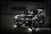 black custom supercharged H3 H2 Hummer, power, upgraded engine urban american vehicle