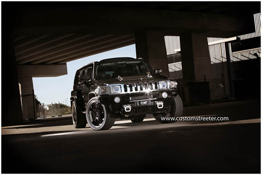 Pimped out H3 Hummer feauturing supercharged H3 5 Cylinder engine, making it one of the fastest H3 Hummers in the world. Kit's available through woofpac performance